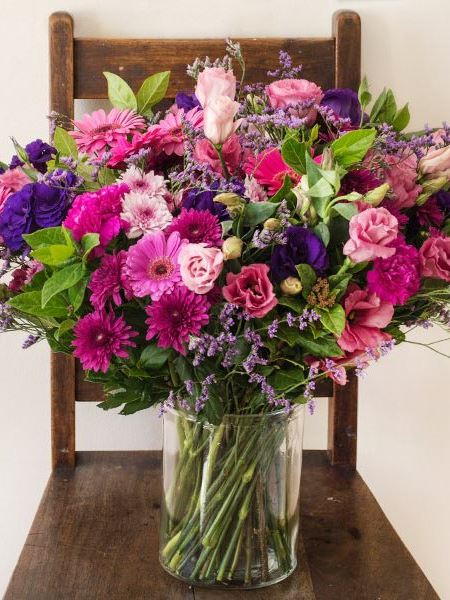 Arrangements: The Pink, Purple & Blue Vase