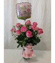 Arrangements: Pink rose bud