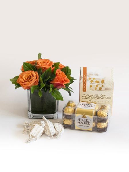Snack & Gift Hampers: Orange Rose Sweet Treat