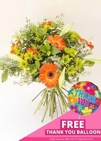 Easter: Olive Orange Bouquet with FREE balloon