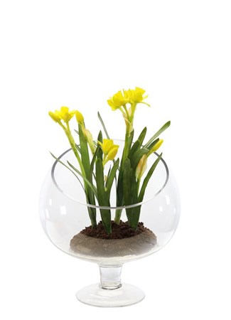 Silk Flowers & Plants: Narcissus in trophy vase
