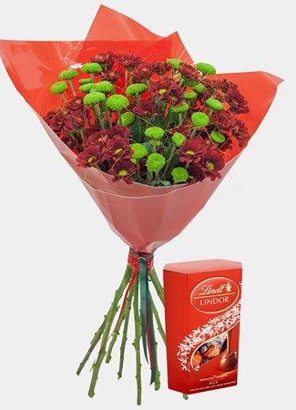 Bouquets: Crysanth Happiness with Lindt Lindor