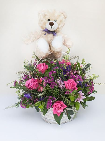 Arrangements: Bear Basket