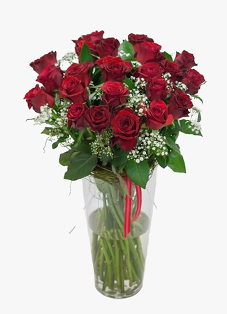 Arrangements:  Red Rose & Million Stars Vase Arrangement