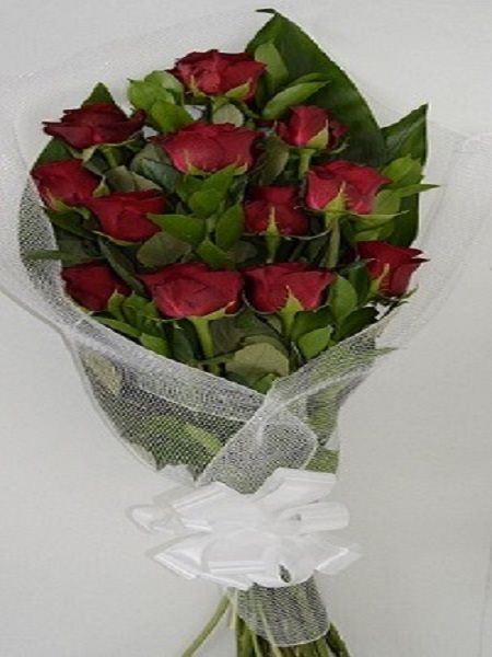 Bouquets: Red Roses in wrapping