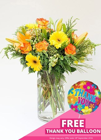 Easter: Sunshine in a Vase with FREE balloon