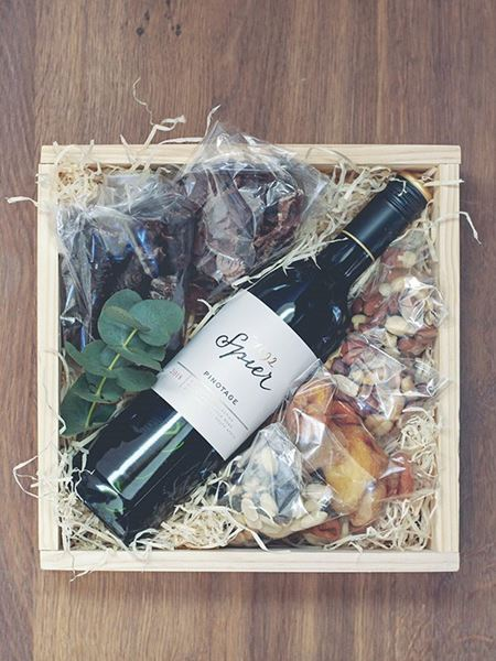 Snack & Gift Hampers: Red Wine, Nuts & Biltong
