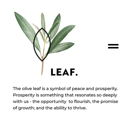 The olive leaf is a symbol of peace and prosperity