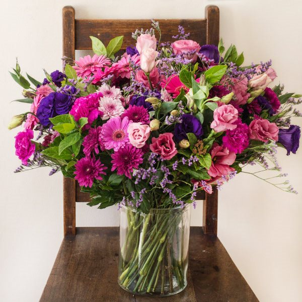 Arrangements: The Pink, Purple U0026 Blue Vase