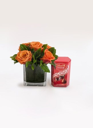 Snack & Gift Hampers: Orange Rose Lindor Treat