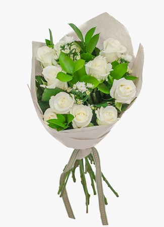 Salt rock flower gift delivery bouquets lovely white rose bouquet mightylinksfo